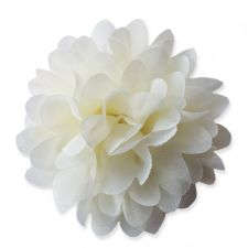 10cm Pompom Bloom CREAM Fabric Flower Applique